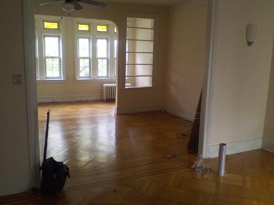 Our Brooklyn home for three years  (that's the longest either of us has lived anywhere post-college)